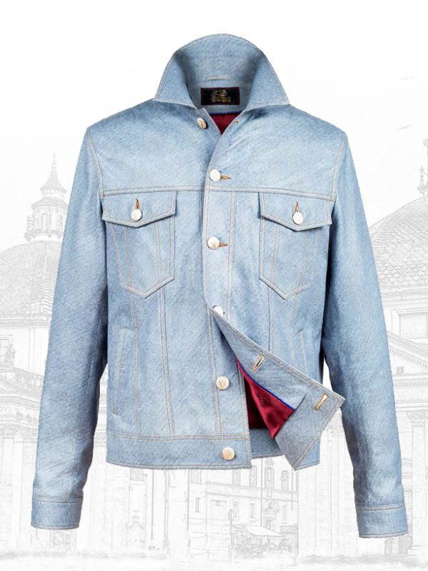Premium Italian Lambskin Silk Leather JacketsForMen