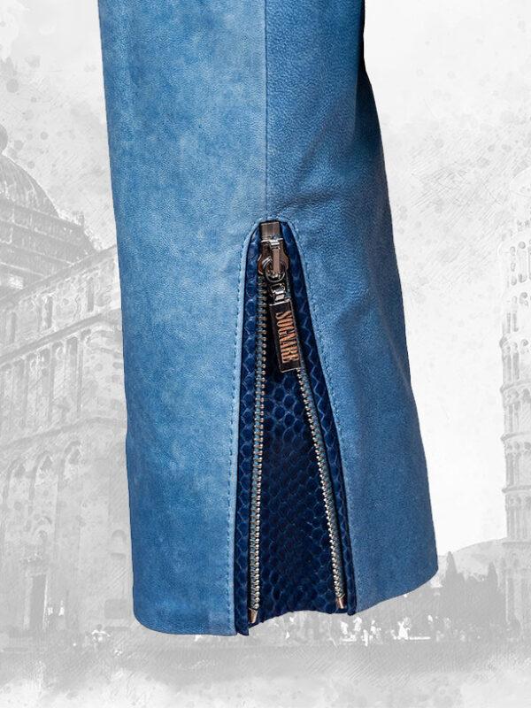 Python and Lambskin Silk Leather Women's Jackets